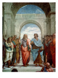 Aristotle and Plato: Detail from the School of Athens in the Stanza Della Segnatura  1510-11