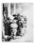 Beggars Receiving Alms  1648 (Etching)
