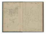 Houses  Windmill  from a Sketchbook  September 1885 (Pencil on Paper)