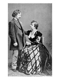 Algernon Charles Swinburne and Adah Menken (B/W Photo)