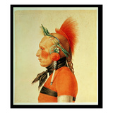 An Osage Warrior  1804 (Colour Litho)