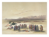 Encampment of the Alloeen in Wady Araba (Hand-Coloured Litho)