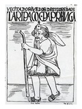The Inspector (Woodcut)