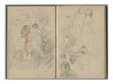 The Nice Carnival  from a Sketchbook  1888-89 (Pencil on Paper)