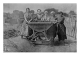 Women Transporting Refuse War Office Photography  1916 (B/W Photo)