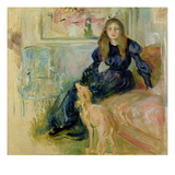 Julie Manet (1878-1966) and Her Greyhound Laerte  1893 (Oil on Canvas)