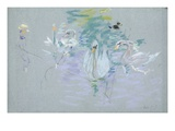 Swans  1885 (Pastel on Paper)