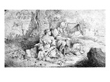 The Rest on the Flight into Egypt  Etched by Antonio Travi (Etching)