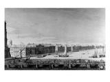Saint Isaac's Pontoon Bridge across the River Neva (Engraving)