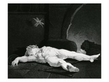 Puck Basking Asleep before the Country Hearth  Engraved by Moses Haughton Jr (Engraving)
