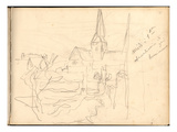 Church of Bennecourt (Pencil on Paper)