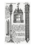 Advertisment for Barometers Made by John Patrick  C1705-1715 (Engraving)