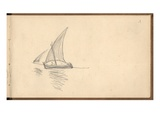 Mediterranean Sailing Boat  C1884 (Pencil on Paper)
