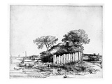 Cottage with a White Paling  1648 (Etching)