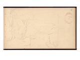 Landscape Near Bordighera  C1884 (Pencil on Paper)