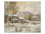 Snow Effect with Setting Sun  1875 (Oil on Canvas)