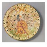Tambourine Player Plate (Majolica)