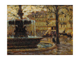 La Fontaine  Paris  1904 (Oil on Panel)