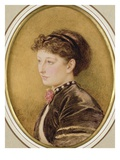 Kate Collins (Nee Dickens) 1865 (W/C on Paper)