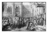 Back from the Consecration  Napoleon Arriving at the Hotel De Ville  Paris  1805
