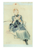 Young Girl Playing with a Ball  1886 (Pastel on Paper)