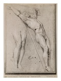 Christ on the Cross  C1685 (Pierre Noire and White Chalk Highlights on Beige Paper)