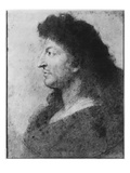 Portrait of Louis Xiv in Profile  with Bare Neck and Long Hair  C1678