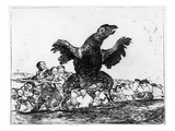 The Carnivorous Vulture  Plate 76 from 'The Disasters of War'  1812-20 (Etching)