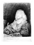 Portrait of a Man at a Desk  1641 (Etching)