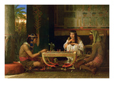 Egyptian Chess Players  1865 (Oil on Panel)