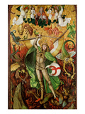 The Archangel Saint Michael in Combat with Lucifer  C1490-1505 (Oil on Wood)