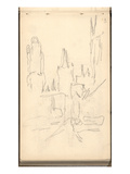 The Three Towers of Rouen Cathedral (Pencil on Paper)