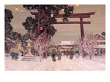 View of a Shinto Shrine  C1889 (Oil on Canvas)