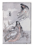 A Witch and a Woman  from a Manga (Colour Woodblock Print)