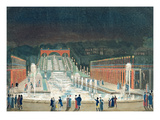 Illumination of the Saint-Cloud Fountain  1st April 1810 (Etching and Aquatint on Paper)