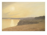Sunset  Near Bournemouth  1899 (Oil on Card)