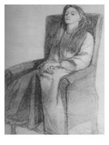 Elizabeth Siddal  C1853 (Graphite on Paper)