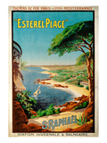 Poster Advertising Esterel-Plage  StRaphael  C1920 (Colour Litho)