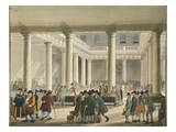 The Corn Exchange from Ackermann's 'Microcosm of London'  1808 (Aquatint)