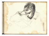 Michel Monet (1878-1966) Reading (Pencil on Paper)