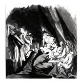 Death of Cardinal Beaufort  Illustration from Shakespeare's 'Henry Vi'  1772