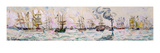 The Departure of the Fishing Trawlers to Newfoundland  1928 (W/C on Paper)