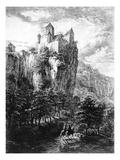 Schloss Prunn in Altmuhlthal  Print by Friedrich Wilhelm Bollinger  1818 (Litho)