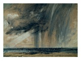 Rainstorm over the Sea  C1824-28 (Oil on Paper Laid on Canvas)