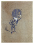 Caricature of Jules Husson (1821-89) 'Champfleury'  1858 (Pencil and Gouache on Paper)