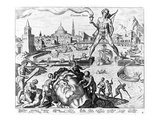The Colossus of Rhodes (Engraving)