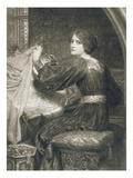 Penelope  Engraved by Norman Hirst (1862-C1955) Pub by Frost and Reed  1903 (Mezzotint)