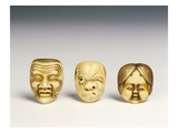 Three Masks (Ivory)