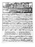 Sheet Music for 'A New Song on Sadler's Wells'  1746 (Engraving)
