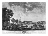 View of the Town and Port of Bayonne Seen from the Avenue of Bouflers Near the Gate of Mousserole